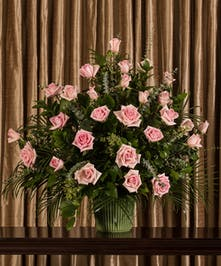 Pink Rose Floor Urn - Tax Free - Same-Day Delivery Wilmington, DE