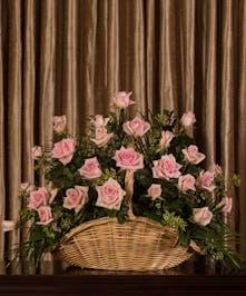 Pink Rose Sympathy Basket Deliery Wilmongton (DE) Boyd's