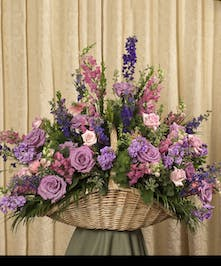 Pastel garden selection includes roses and snapdragons, stands 20