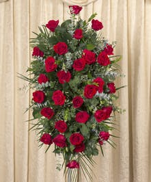 RED ROSE EASEL