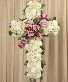 A beautiful display of pink Equadorian roses on a white 30