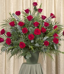 RED ROSE FLOOR URN
