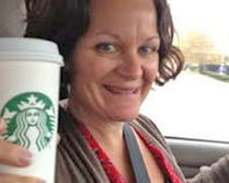 Jackie, a part of the Boyd's leadership team, toasts us with her cup of coffee